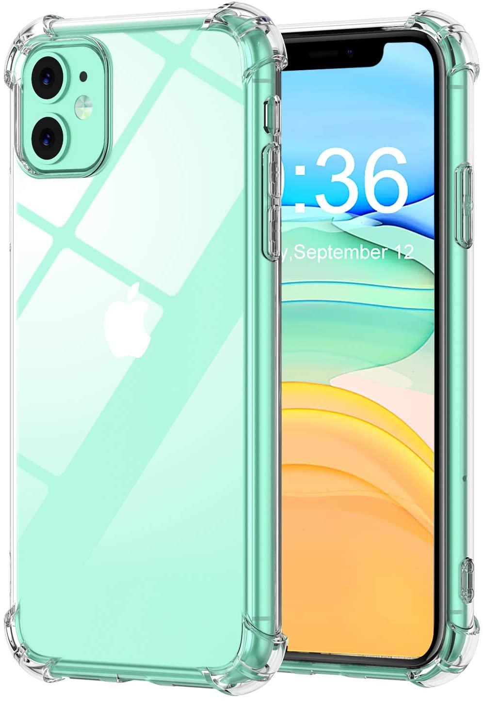 Coque Silicone pour iPhone 11 Etui de Protection Transparent Antichoc avec Quatre Coins Renforces Little Boutik®