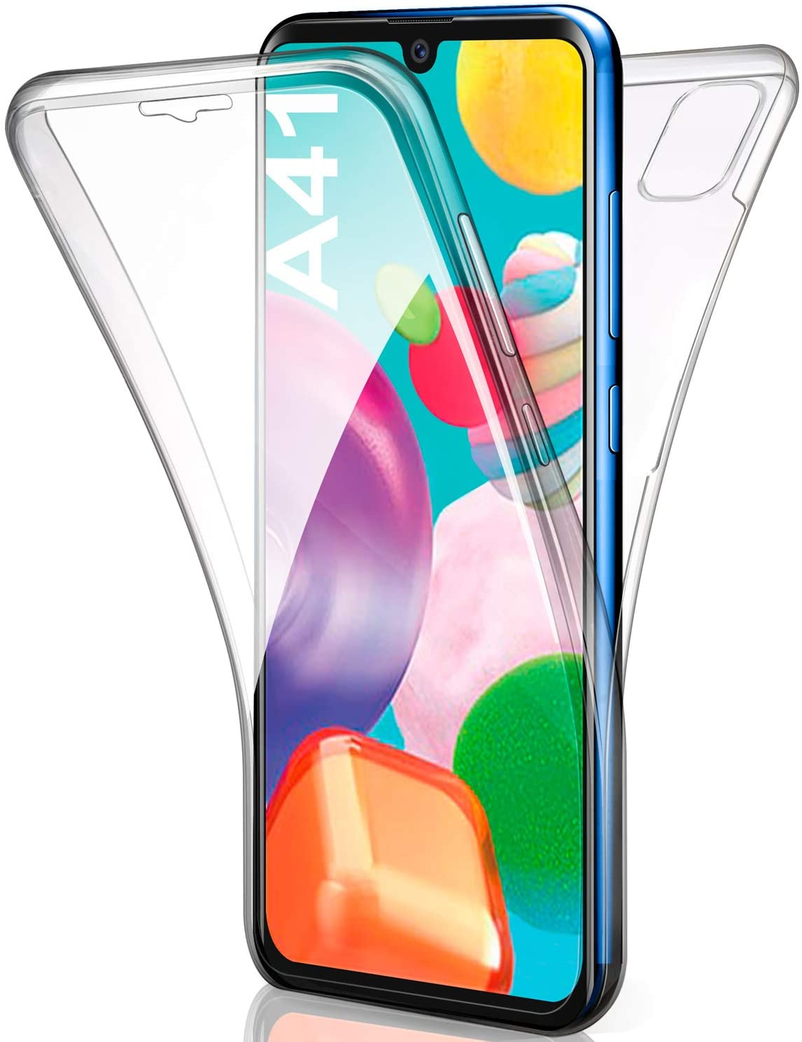 Coque Silicone 360 pour Samsung A41 Etui de Protection integrale Little Boutik®