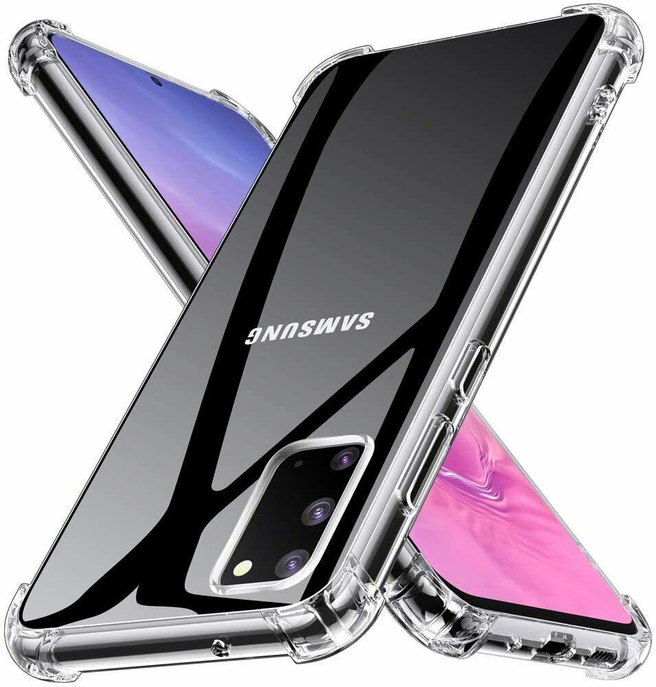 Coque Silicone pour Samsung S20 Etui de Protection Transparent Antichoc avec Quatre Coins Renforces Little Boutik®