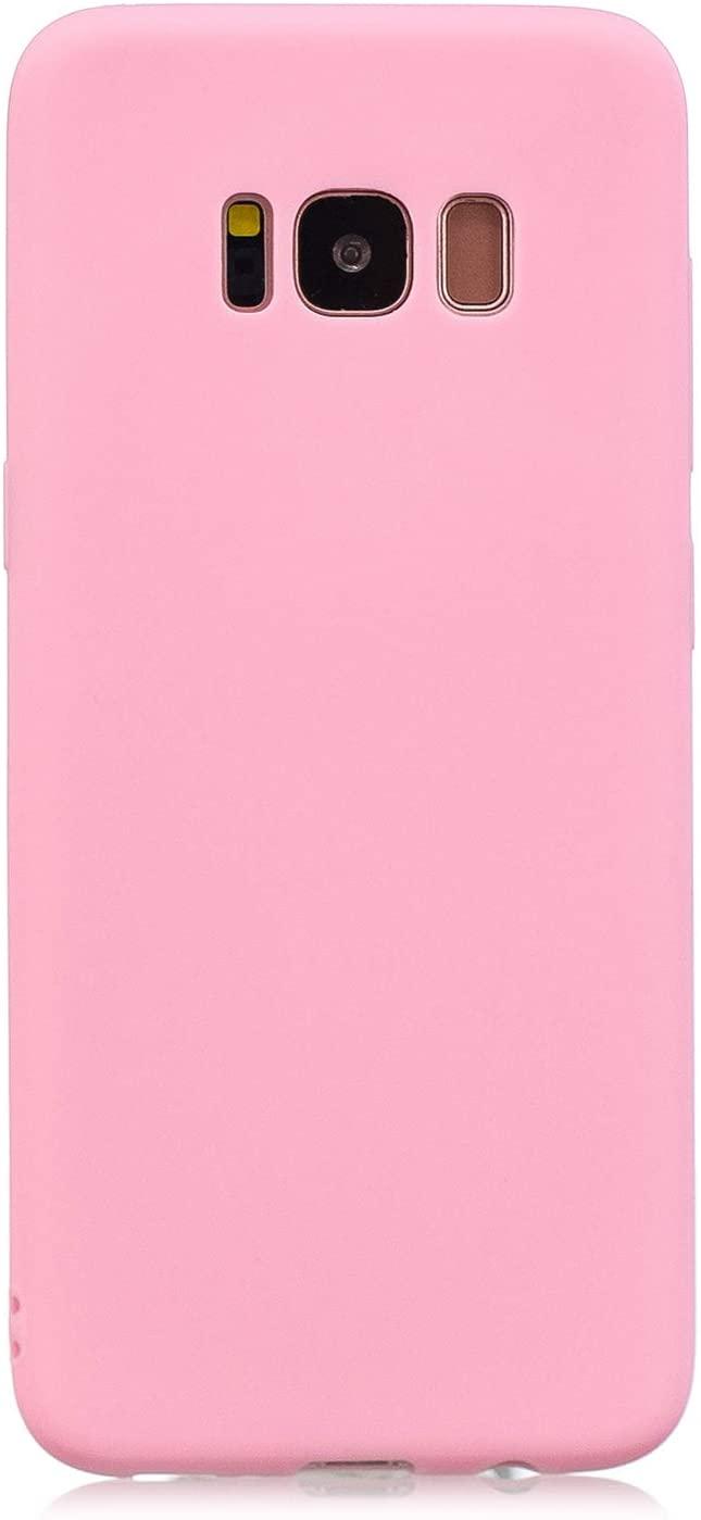 Coque Silicone Pour Samsung S8 Plus Couleur Rose Haute Protection Little Boutik®