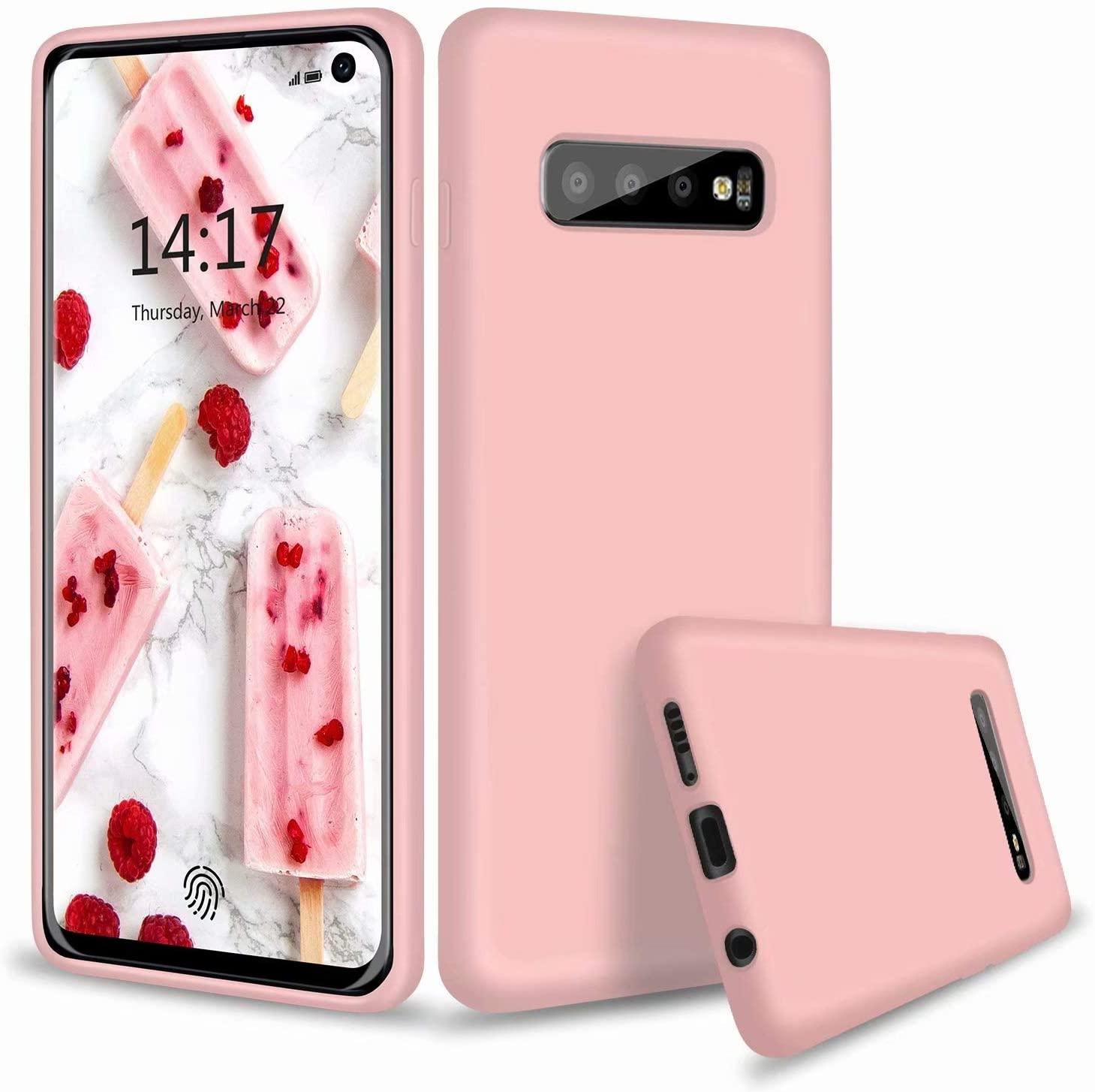 Coque Silicone Pour Samsung S10 Couleur Rose Haute Protection Little Boutik®