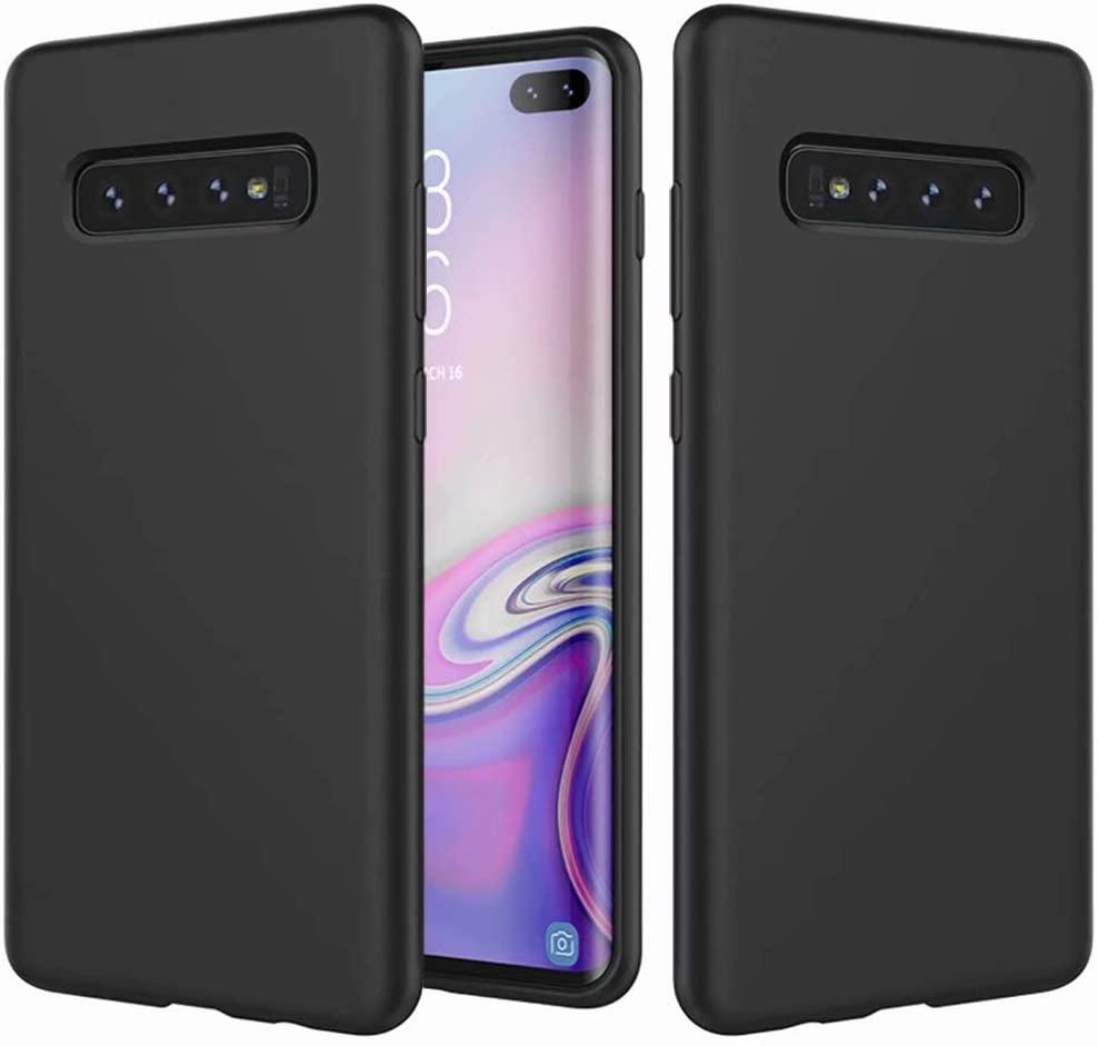 Coque Silicone Pour Samsung S10 Plus Couleur Noir Haute Protection Little Boutik®