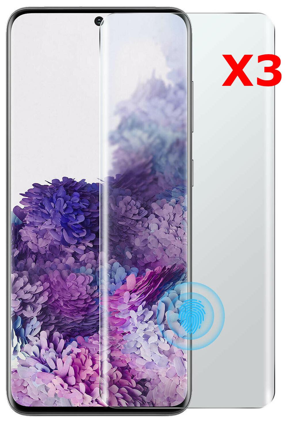 Verres Trempe Haute Resistance Pour Samsung S20Plus Pack X3 Protection Ecran Little Boutik®