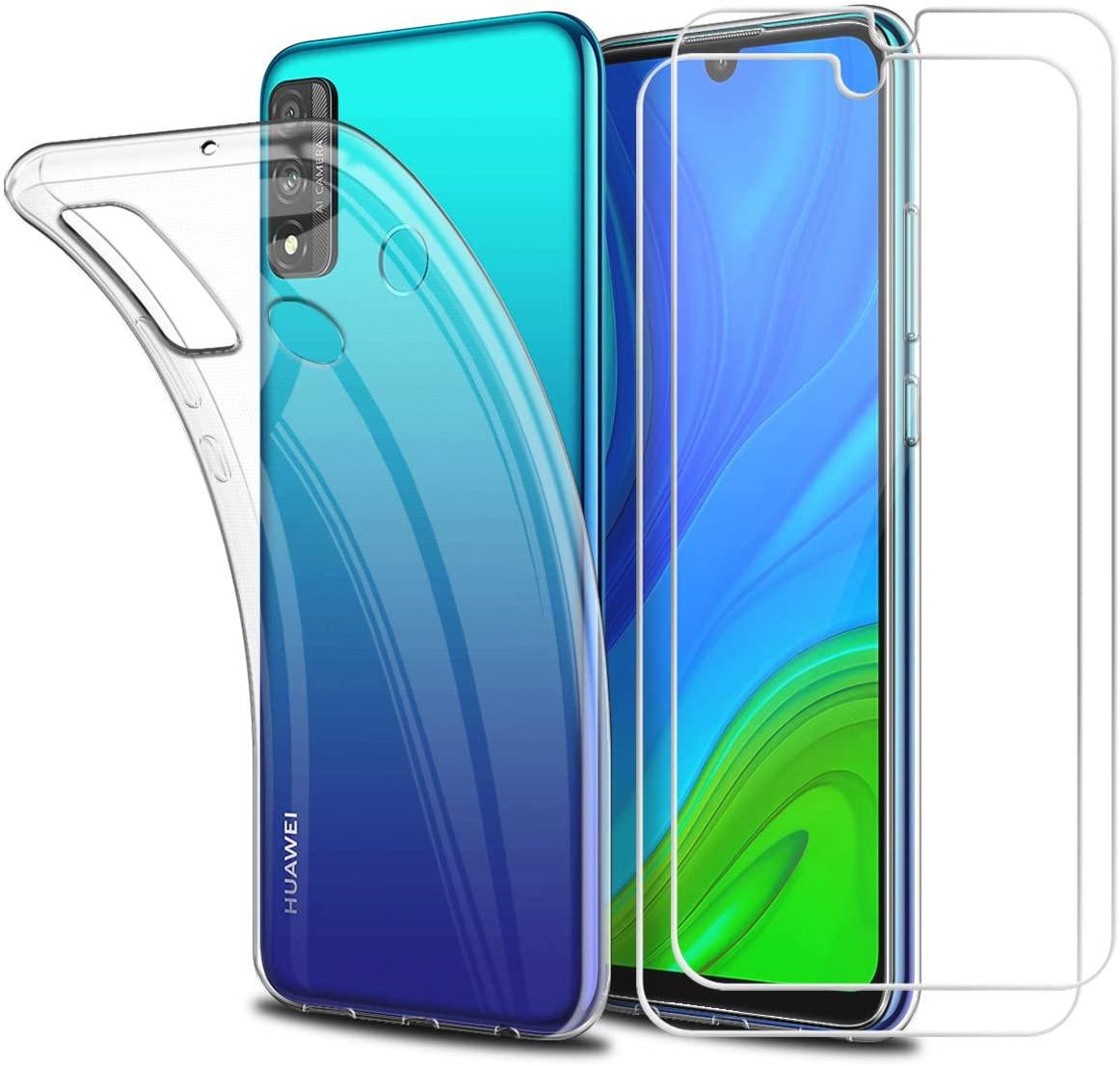 Coque Silicone Transparente Pour Huawei PSMART 2020 + 2 Verres Trempe Protection Ecran Little Boutik®