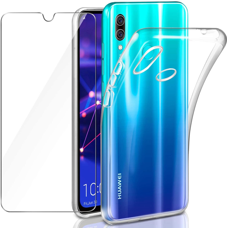 Coque Silicone Transparente Pour Huawei PSMART 2019 + Verre Trempe de Protection Ecran Little Boutik®