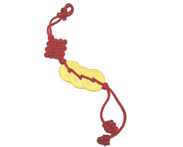Amulette trois pi ces de prosp rit or 24 carats feng for Porte zen fuji
