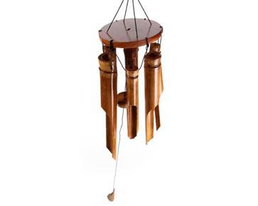 carillon vent en bambou porte bonheur fs d co d 39 asie musicoth rapie gongs carillons. Black Bedroom Furniture Sets. Home Design Ideas