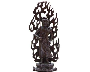fudo-myoo-debout-en-bronze-577