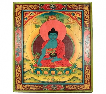 Tableau en bois bouddha m decine meubles d co murale for Porte zen fuji
