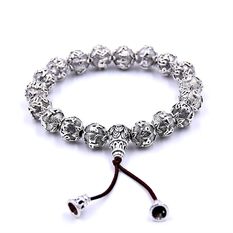 bracelet porte bonheur mala mantra en argent bijoux bracelet mala magie d 39 asie. Black Bedroom Furniture Sets. Home Design Ideas