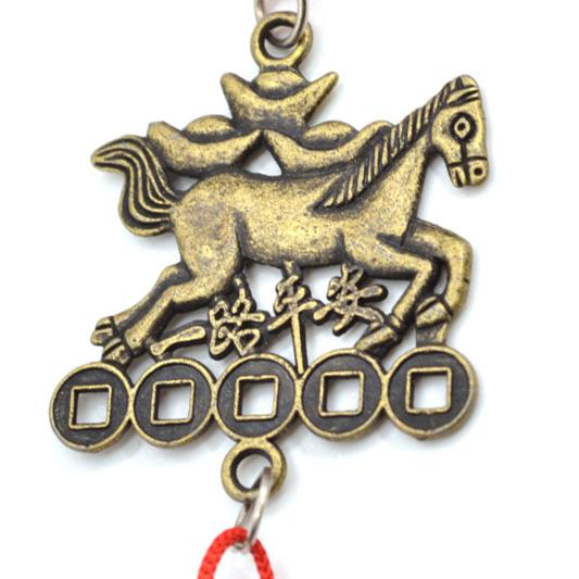 Amulette du cheval de victoire bronze feng shui amulette for Porte zen fuji
