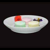 Diffuseur Plâtre à Parfumer Macaron et Soucoupe ronde blanche