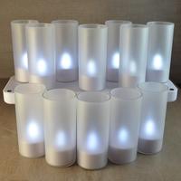 Set de 12 bougies à led rechargeables couleur blanche