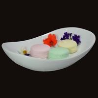 Diffuseur Plâtre à Parfumer Macaron et Soucoupe ovale blanche