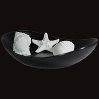 Diffuseur Plâtre à Parfumer Océan et Soucoupe ovale noire