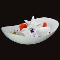 Diffuseur Plâtre à Parfumer Océan et Soucoupe ovale blanche