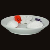 Diffuseur Plâtre à Parfumer Nature et Soucoupe ronde blanche