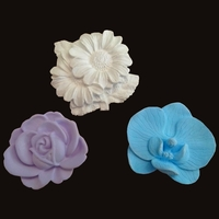 Lot de 3 sujets Floral sans soucoupe