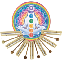 Barre musicale carillon thérapeutique pour 7 Chakra