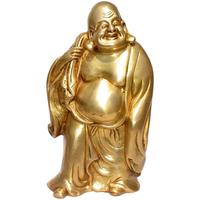 Superbe bouddha chinois traditionnel en bronze doré !