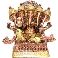 Ganesh en bronze à 5 têtes