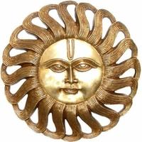 Déco murale : Soleil en bronze
