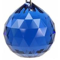Boule de cristal bleu : Eau Yin 2 cm