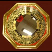 Miroir Pa Kua convexe style Luo Pan