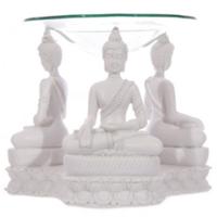 Brûleur A Huile Bouddha blanc