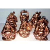 Bouddhas des six bonheurs Cuivre : Gold Rose