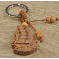 Porte-clefs amulette voilier de richesse