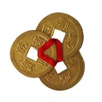 Pièces Qian Lung, amulette 3 pièces de richesse en or