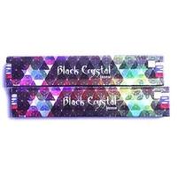 12 Bâtonnets EncensSatya Nag Champa Black Crystal