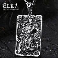 Amulette  Gwan Di en acier inoxydable: Protection & Richesse