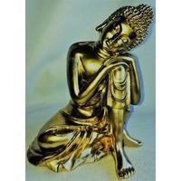 Bouddha penseur Petit Or Doré