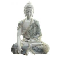 Grand bouddha blanc : Siddhârta prenant la terre a témoin