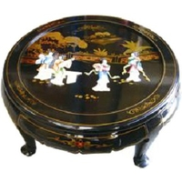 Table Basse Laque et pierre de Chine