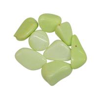 Lot de 8 pierres de chrysoprase vert tendre