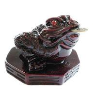 Grenouille rouge de prospérité sur pa kua