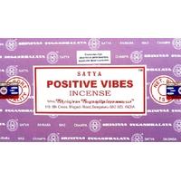 12 Bâtonnets Encens Satya Nag Champa Vibrations Positives