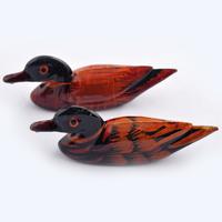Feng shui Amour : couple de Canards en bois