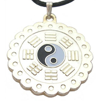 Amulette de protection pa kua  argent