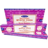 Lot de 12 boites d'encens Satya Nag Champa Spécial Yoga