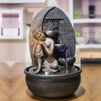 Grande fontaine 40cm bouddha penseur