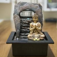 Fontaine cascade et bouddha