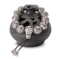 2.Bracelet porte bonheur Mala en argent tibet - Copie