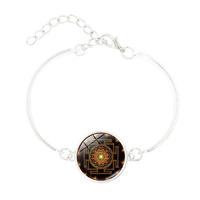 Bracelet Indien : Sri Yantra argent