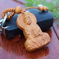 Porte-clés Bouddha - Bois de Pêcher