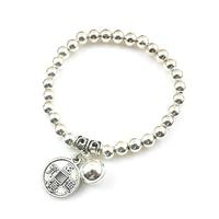 Bracelet chinois porte-bonheur argenté
