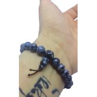 4.bracelet poxer mala obisidienne neige moucheté